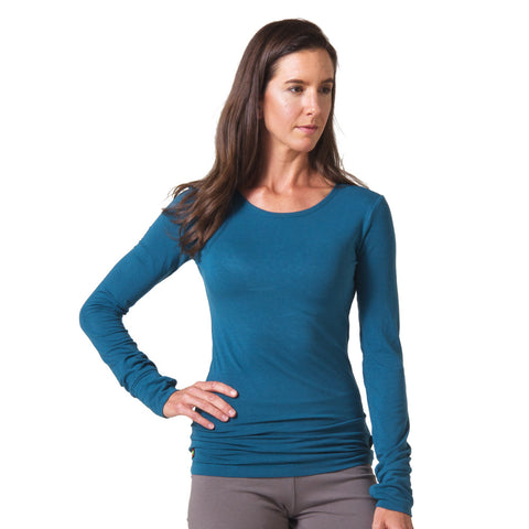 Strength Bamboo Long Sleeve T-shirt teal