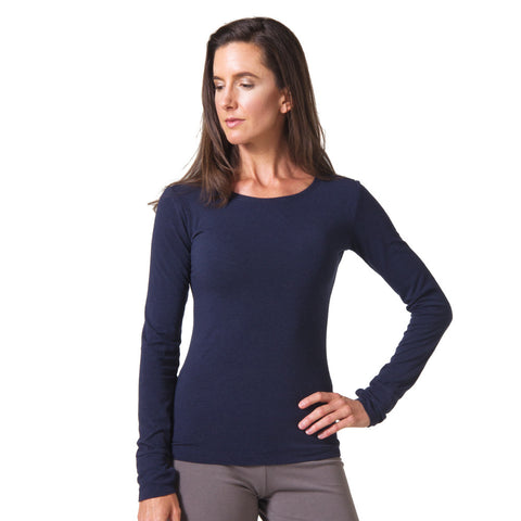 Strength Bamboo Long Sleeve T-shirt navy