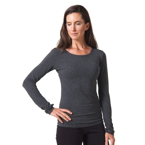 Strength Bamboo Long Sleeve T-shirt - Heather Gray