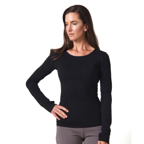 Strength Bamboo Long Sleeve T-shirt black