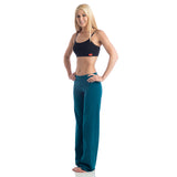 Wisdom Fold Over Yoga Pants - Teal