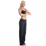 Wisdom Fold Over Yoga Pants - Black LONG