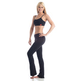 Love Boot Cut Leggings for Yoga - Black