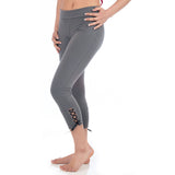 Love Lace-up Capri Legging - Gray