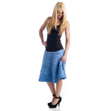 Grace Ruffled Skirt cornflower