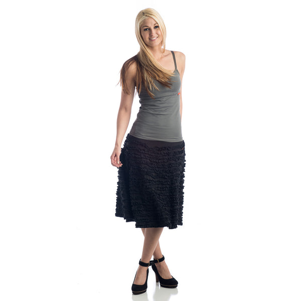 Grace Ruffled Skirt black