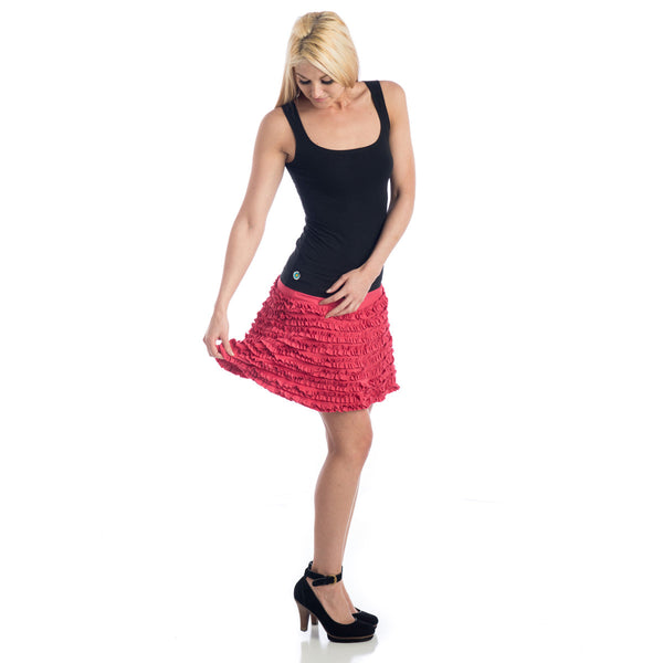 Grace Ruffled Mini Skirt watermelon
