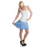 Grace Ruffled Mini Skirt cornflower