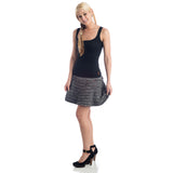 Grace Ruffled Mini Skirt gray