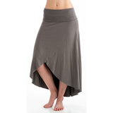 Grace Bamboo Asymmetrical Skirt - Gray