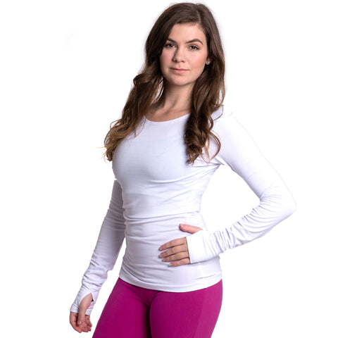 Strength Bamboo Long Sleeve T-shirt - White