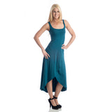 Grace Asymmetrical Maxi Tank Dress - Teal