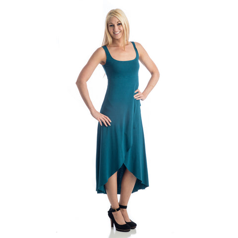 Grace High Low Tank Dress teal