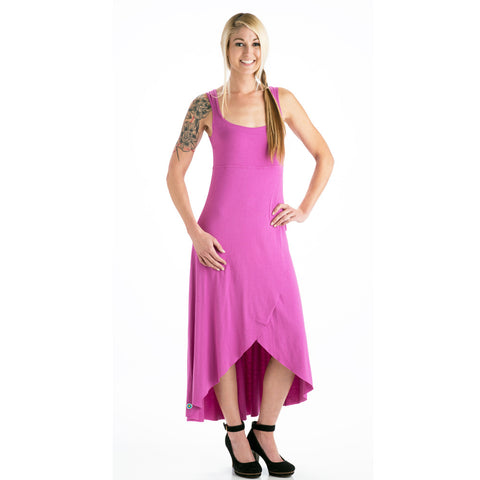 Grace Asymmetrical Maxi Tank Dress - Orchid