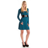 Strength Long Sleeve Bamboo Dress - Teal