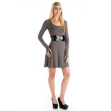 Strength Long Sleeve Bamboo Dress - Gray
