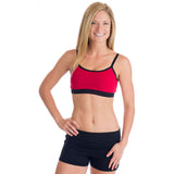Strength Reversible Sports Bra - Black and Red