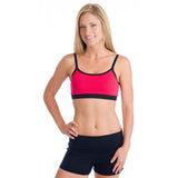 Strength Reversible Sports Bra - Black and Watermelon
