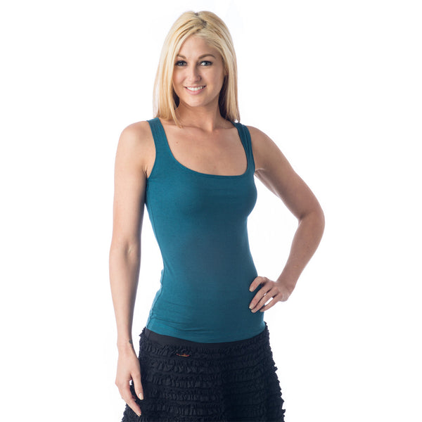 Strength Bamboo Tank Top - Teal