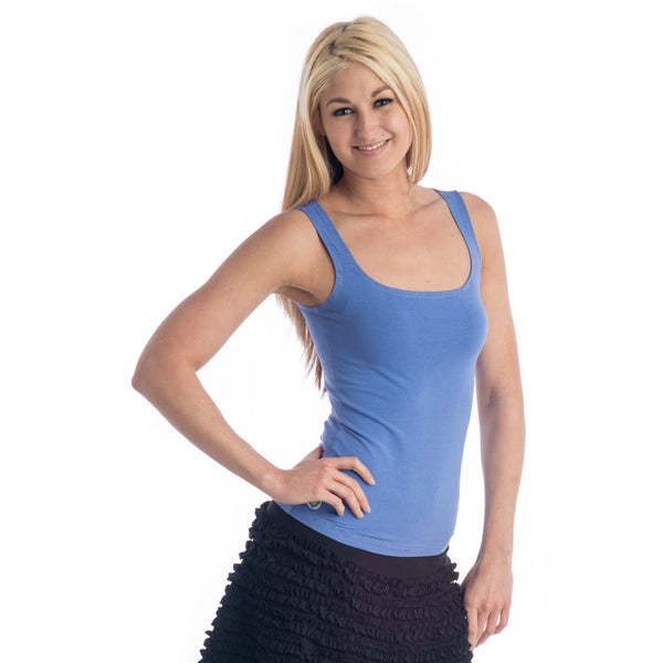 Strength Bamboo Basic Tank Top - Periwinkle