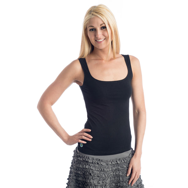 Strength Bamboo Tank Top - Black
