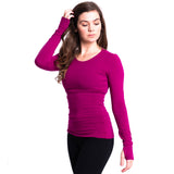 Strength Bamboo Long Sleeve T-shirt - Fuchsia/Red