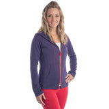 Strength Zippered Hoodie - Grape
