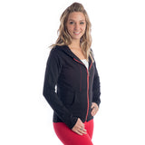 Strength Zippered Hoodie - Black