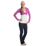 Love Bamboo Cropped Hoodie orchid