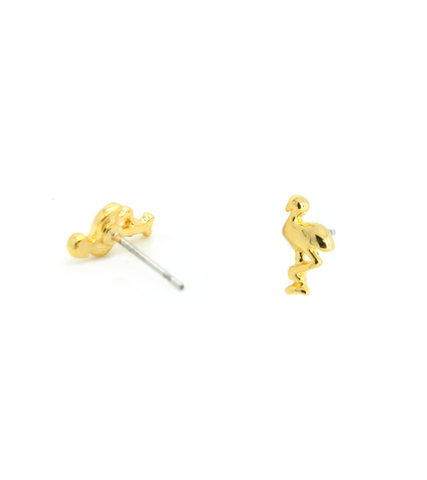 Petite Flamingo Stud Earrings