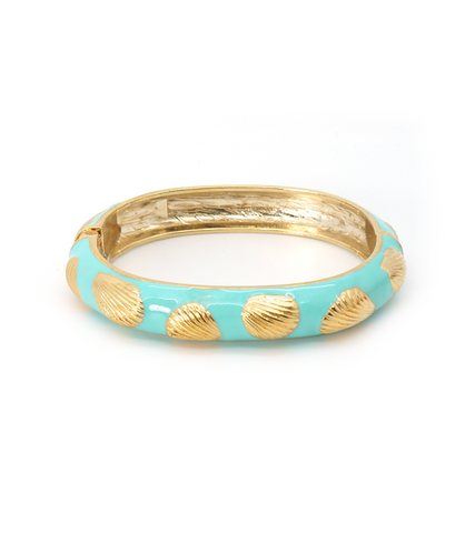 Scallop Shell Hinge Bangle