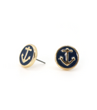 Embossed Anchor Earrings