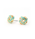 Enamel Knot Earrings