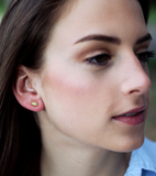 Petite Football Stud Earrings