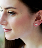Petite Whale Stud Earrings