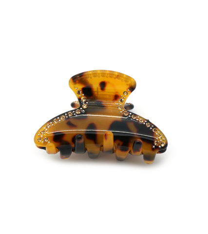 Tortoise Embellished Small Jaw Clip