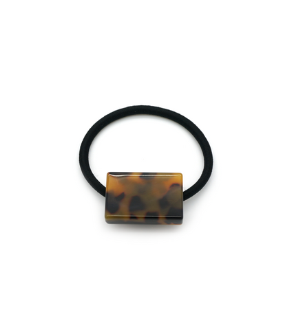 Tortoise Rectangle Block Hair Tie