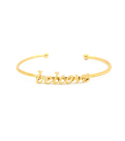 "Word Fun ""Believe"" Cuff"