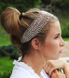 Beaded Crochet Headband