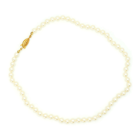 "6mm Pearl Necklace - 20"" Length"