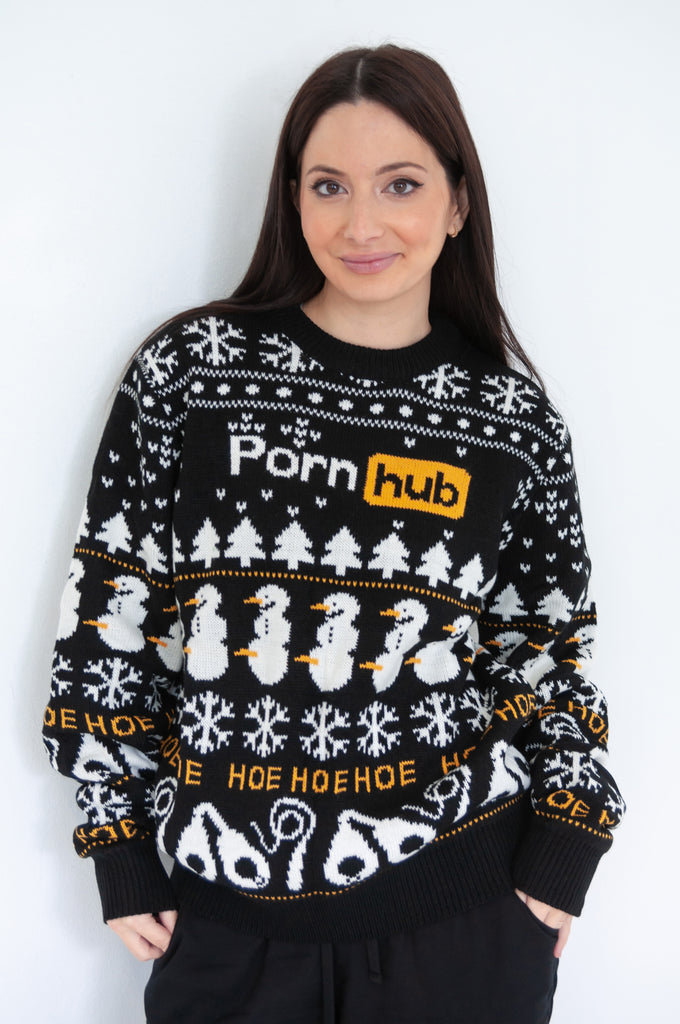Pornhub Classic Christmas Sweater  Pornhub Apparel-6934