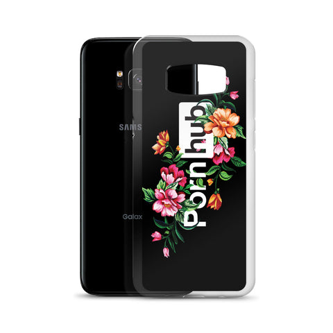 Floral Samsung Phone Cases in Black