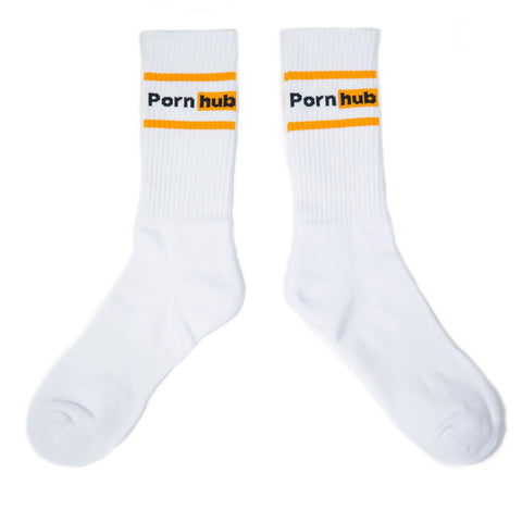 Pornhub Orange Stripe Sport Sock - Pornhub Apparel