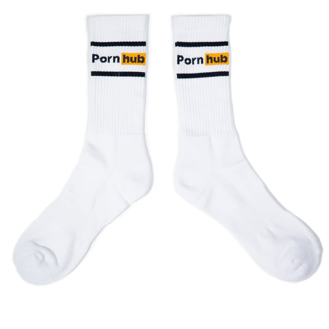 Pornhub Black Stripe Sport Sock - Pornhub Apparel