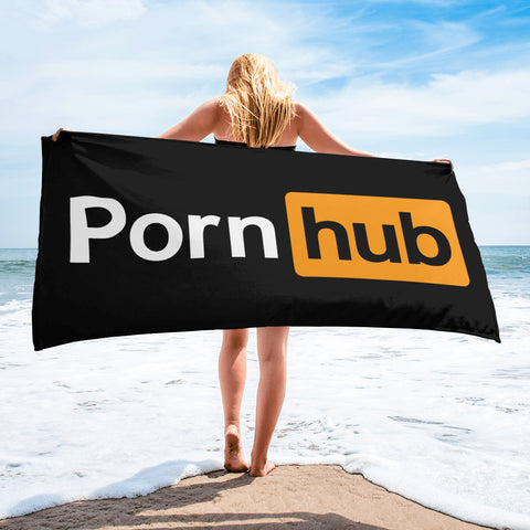 Pornhub Black Beach Towel - Pornhub Apparel