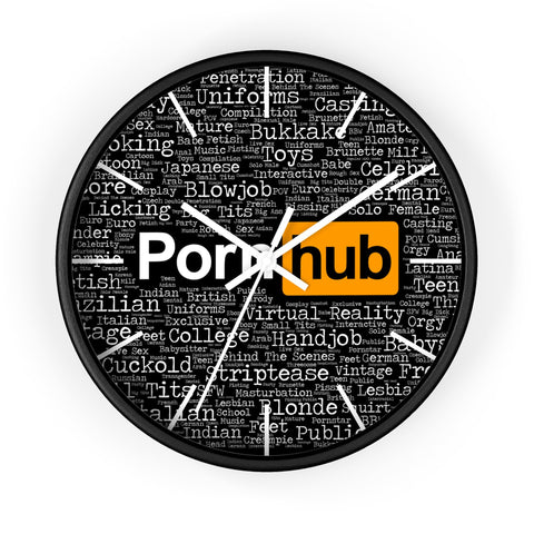 Pornhub Categories Clock Black Face - Pornhub Apparel