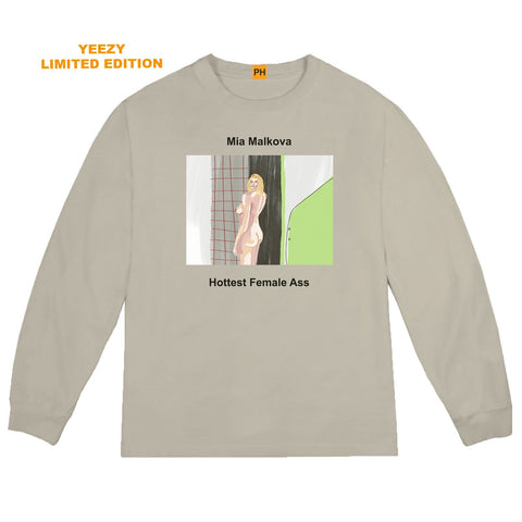 YEEZY PORNHUB AWARDS MIA MALKOVA LONG SLEEVE TEE