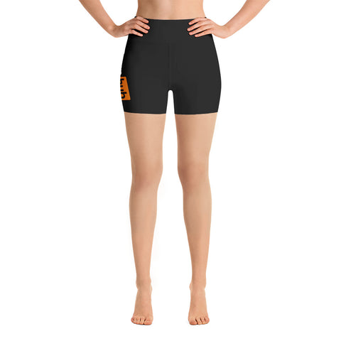 Pornhub Yoga Shorts - One Sided logo - Pornhub Apparel