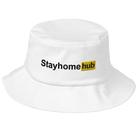 Stayhomehub Old School Bucket Hat White - Pornhub Apparel