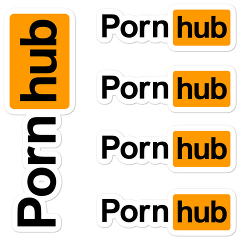 Pornhub Logo Sticker Sheet - Pornhub Apparel